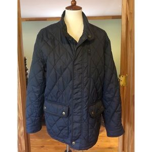 Banana Republic Navy Quilted Utility Wind Jacket